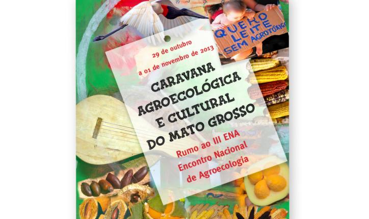 <p>Cartaz para Caravana Agroecológica e Cultural do Mato Grosso 2013</p> <p>&nbsp</p>
