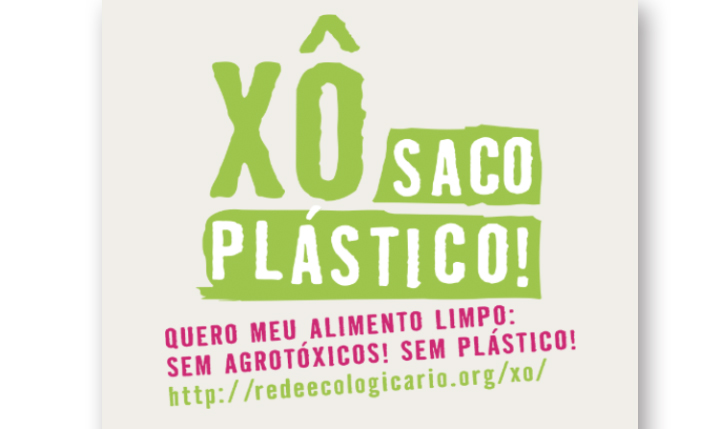 <p>Logotipo para a campanha Xô Saco Plástico para a Rede Ecológica Rio de Janeiro. 2014</p>