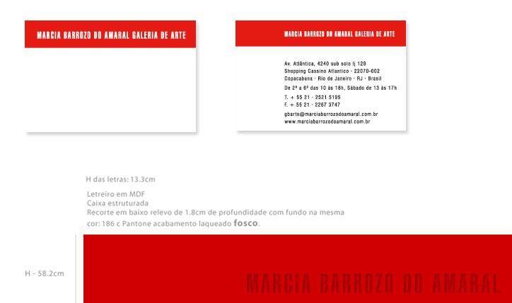 <p>cliente// Marcia Barrozo do Amaral Galeria de Arte</p> <p>identidade visual da Galeria incluindo papelaria, letreiro, anúncios e catálogos</p> <p>&nbsp</p>